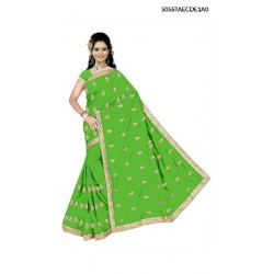 Bangali Silk Embroidery Saree With Blouse