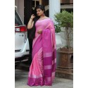 linen is back with new Color saree