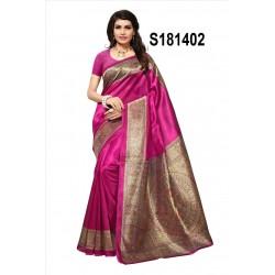 Mysore silk saree kalamkari