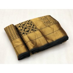 Pure heavy banarasi saree with rich pallu and heavy running blouse