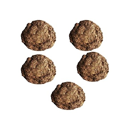 Cow Dung Cakes/Gobar Upla for Hawan and Indian Rituals (Brown) - Pack of 5